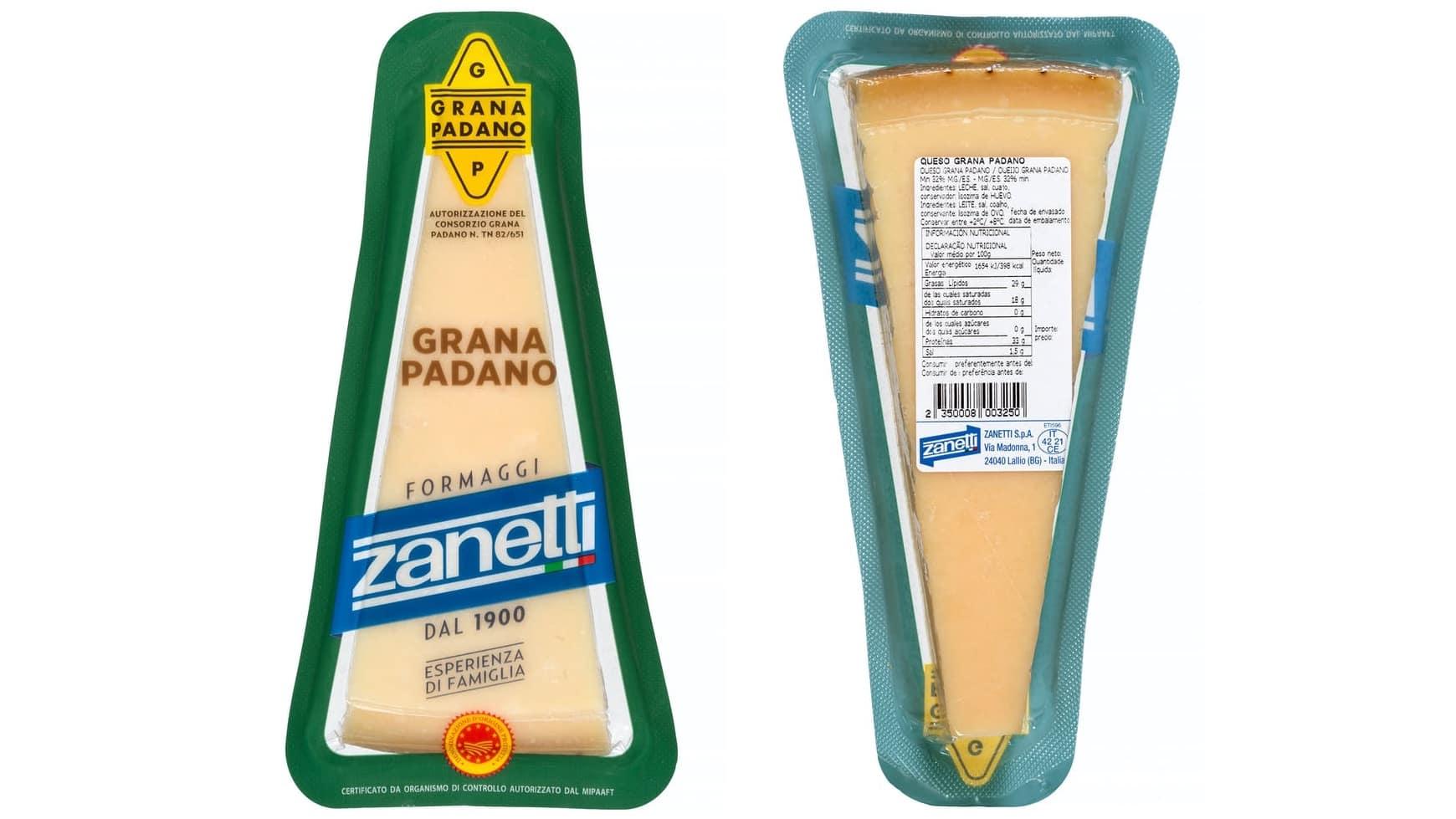 queso grana padano parmesano del mercadona